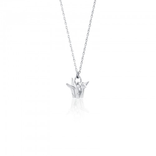 Origami Crane /Pendant with Necklace