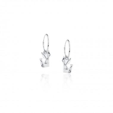 Origami Fox /Hoop Earrings
