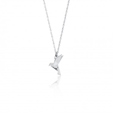 Origami Pigeon /Pendant with Necklace