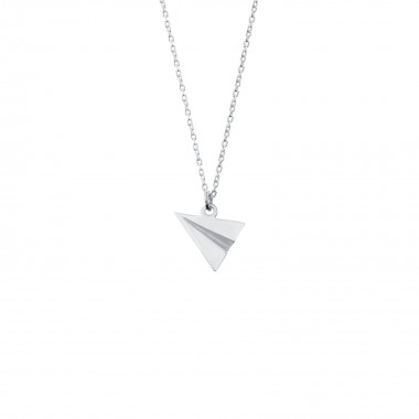 Origami Plane /Pendant with Necklace