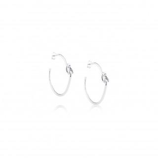 Love Knot / Earrings C-shape 1.5x30 mm.