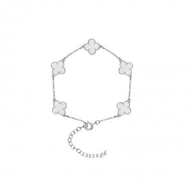 Clover Leaf-Bracelet / Satin Finish