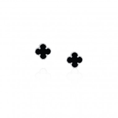 Clover Leaf-Earrings Stud / Enamel