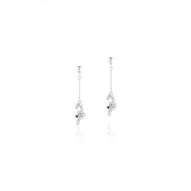 Candy Cane / Chain Drop Earrings