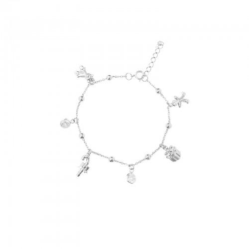 Charm Bracelet with CZ / Christmas Toys