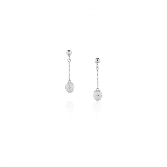 Pinecone / Chain Drop Earrings