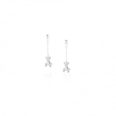 Teddy Bear / Chain Drop Earrings